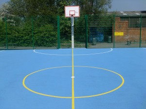 Polymeric Outdoor Netball Court surfaces to type 3 MUGA