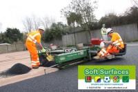 In-situ polyurethane binder rubber crumb shock pad surface prices