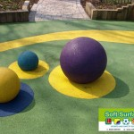 Play safe rubber epdm sbr wet pour playground safety surfacing floor cost