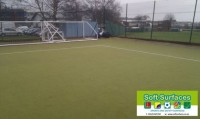 Replacement Recycle Uplift synthetic turf remover and Sporting MUGA court pitches measurement