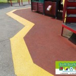 Rubber Wetpour Safety Surfacing Perimeter Band Repairs Contractors price