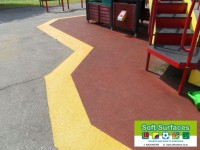 Rubber Wetpour Safety Surface Perimeter Band Repair Contracting prices