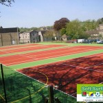 Squeegee Applied Sports Coatings in polyurethane acrylic MUGA surface cost