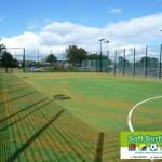 Twin bar rebound weldmesh ball stop MUGA Fencing cost