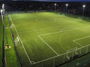 Floodlights for Artificial Grass Sports Pitch