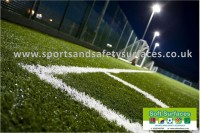 Floodlit artificial turf sports surface multi use games areas