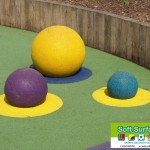 Half Rubber Sphere, ¾ Wet Pour Spheres To Playground Surface