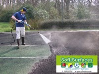 Pressure Washing Tennis Court Sports Surfacing