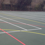 Re-colouring multi use games area sports surfacing