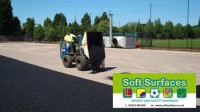 Rubberised SBR crumb granules artificial surface shock pad contractor