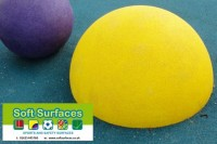 Play safe rubber epdm safety surfacing sphere