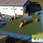 Playground Rubber Soft Spongy Bouncy Safety Surfacing Contractors grant
