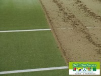 Rejuvenation sand filled FIH hockey sports pitch surface