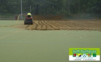 Removal and replacement of all weather pitch sand infill rejuvenation maintenances