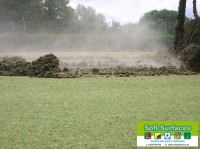 Replace contaminated sand infill to all weather sports pitch surface