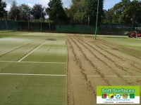 Replace sand infill to revitalise sports pitch surfacing with rejuvenation maintenances