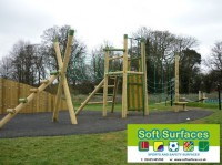 Rubberised Bound Bark Surfacing Play Area Rhino Mulch Flooring Specifications