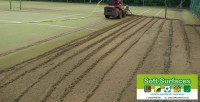 Sand Removal and replacement of synthetic turf sand infill with rejuvenation maintenances