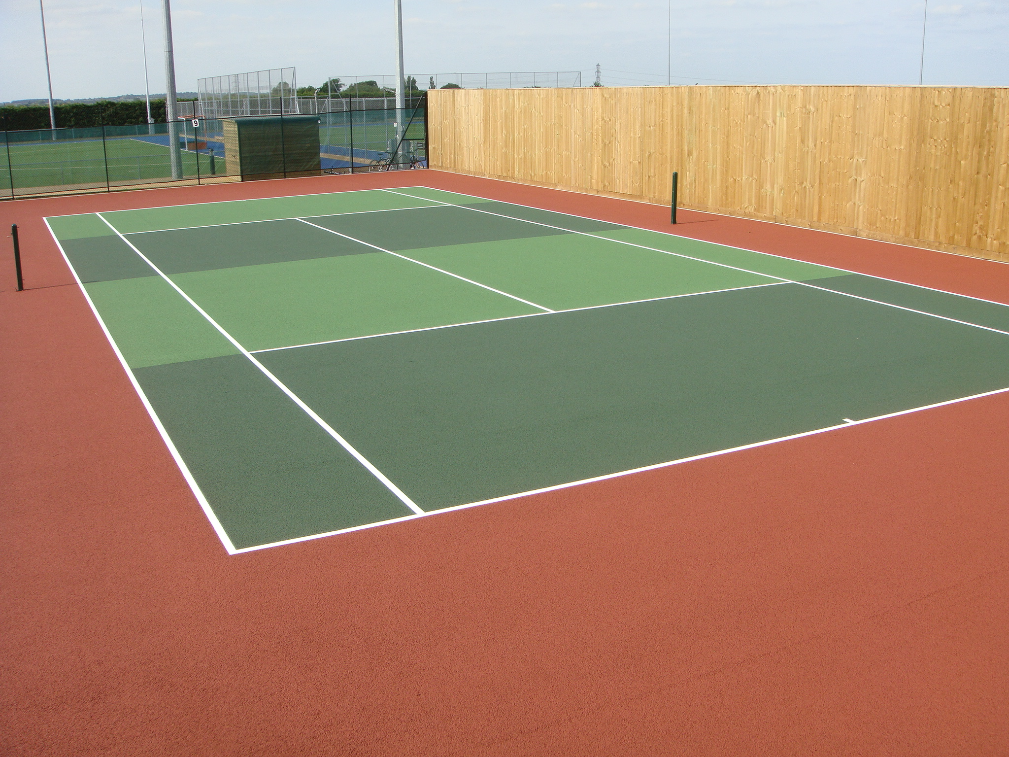 Sports and safety surfaces all weather pitch muga for Sport court paint
