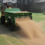 Sand filled pitch infill installation