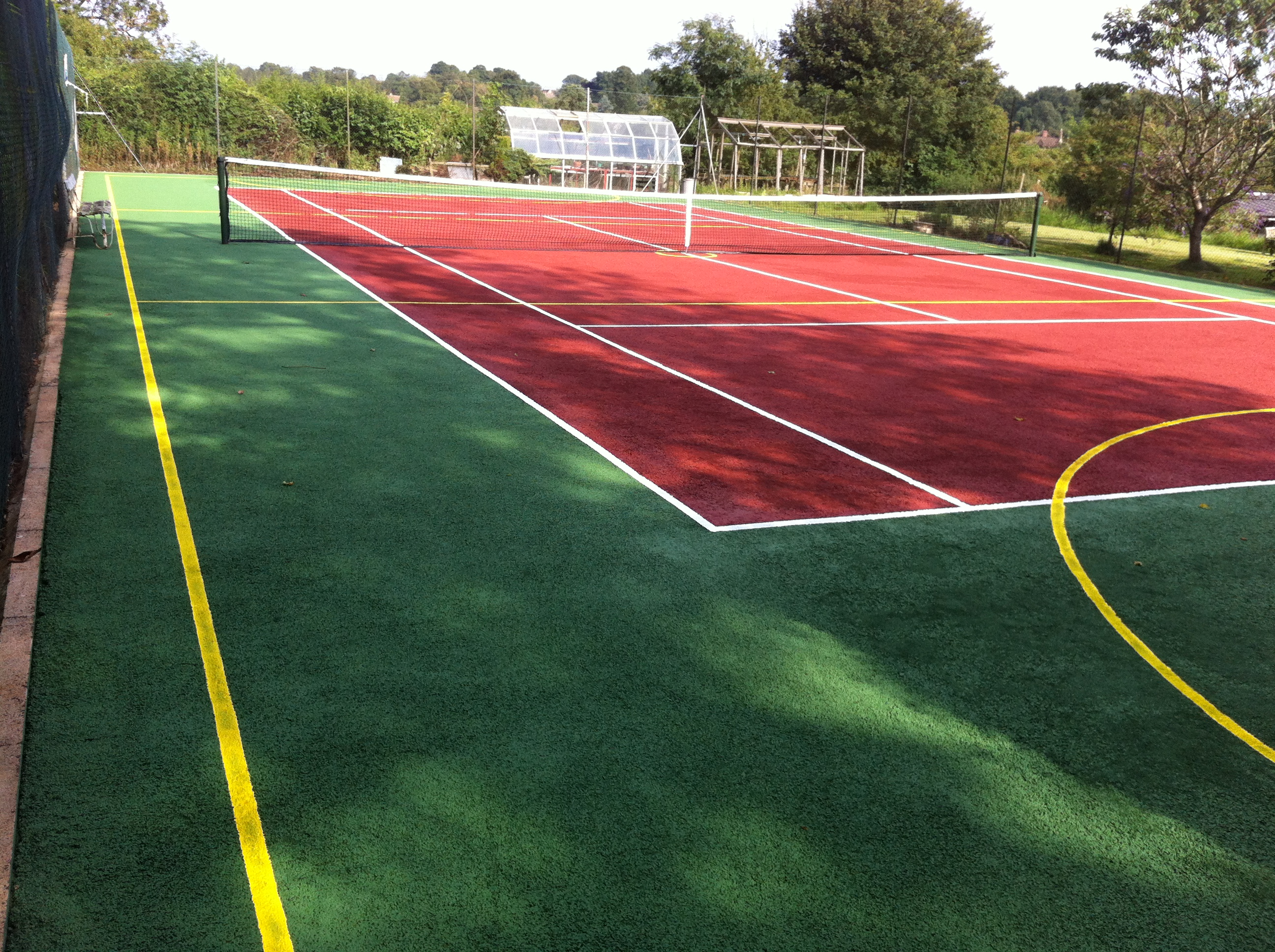 Tennis court dimensions uk tennis courts size for Sport court size
