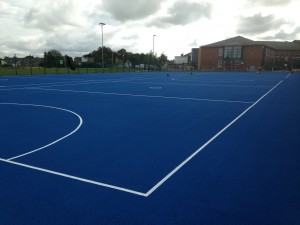 Netball Court Line Marking in White Paint