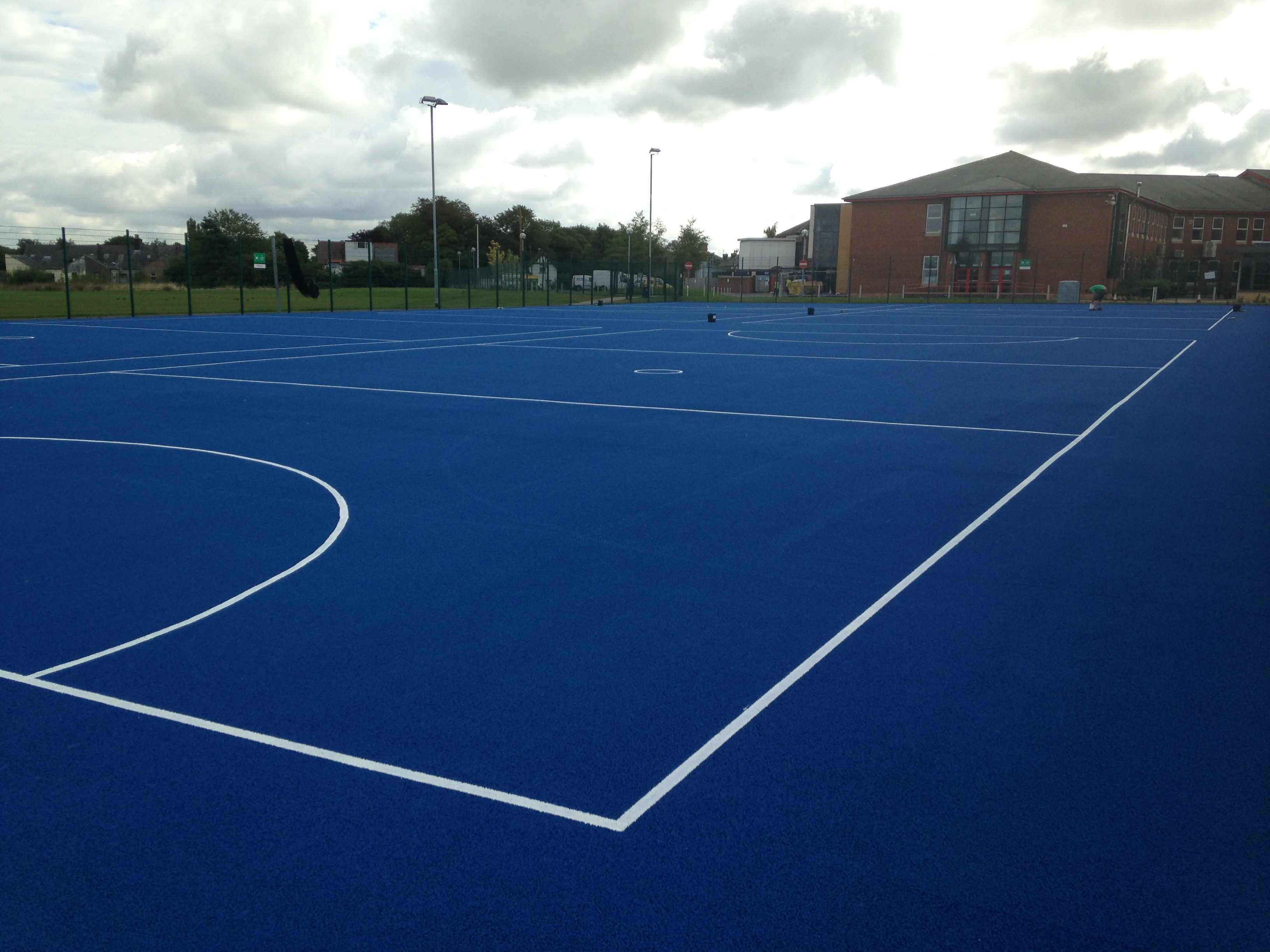 How Long Is A Football Pitch >> Thermoplastic Sports Courts vs Painted Line Markings - Sports and Safety Surfaces