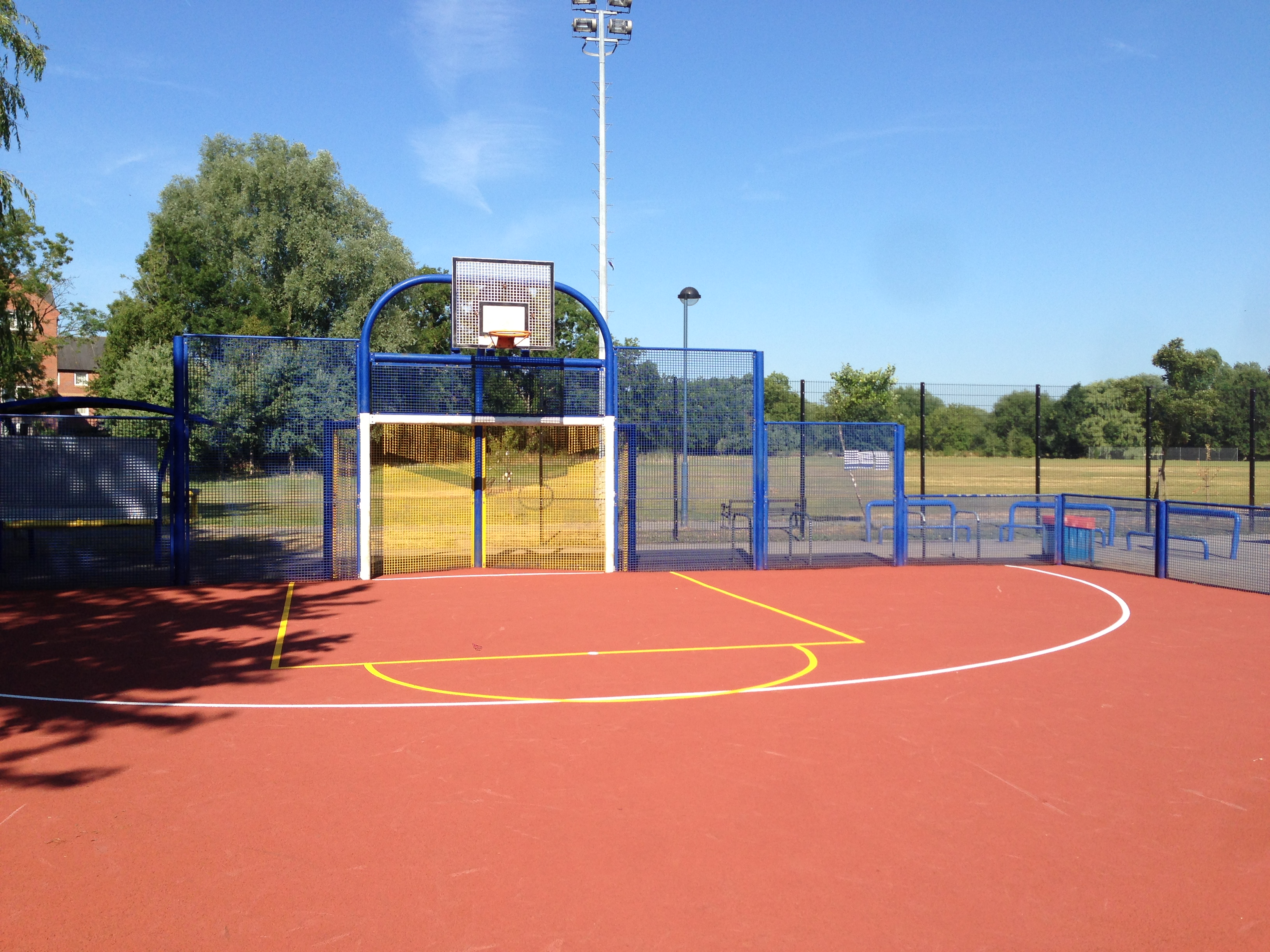 Basketball court services sports and safety surfaces for Basketball sport court cost