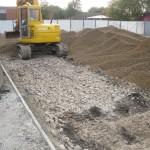 MUGA Court Stone Sub Base Construction
