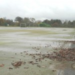 Waterlogged Hockey Pitch Surfacing Clean