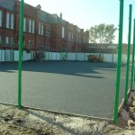 Construction of Polymeric Basketball Court