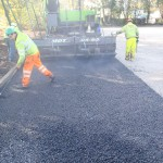 Polymeric MUGA Court Installation of Macadam Base