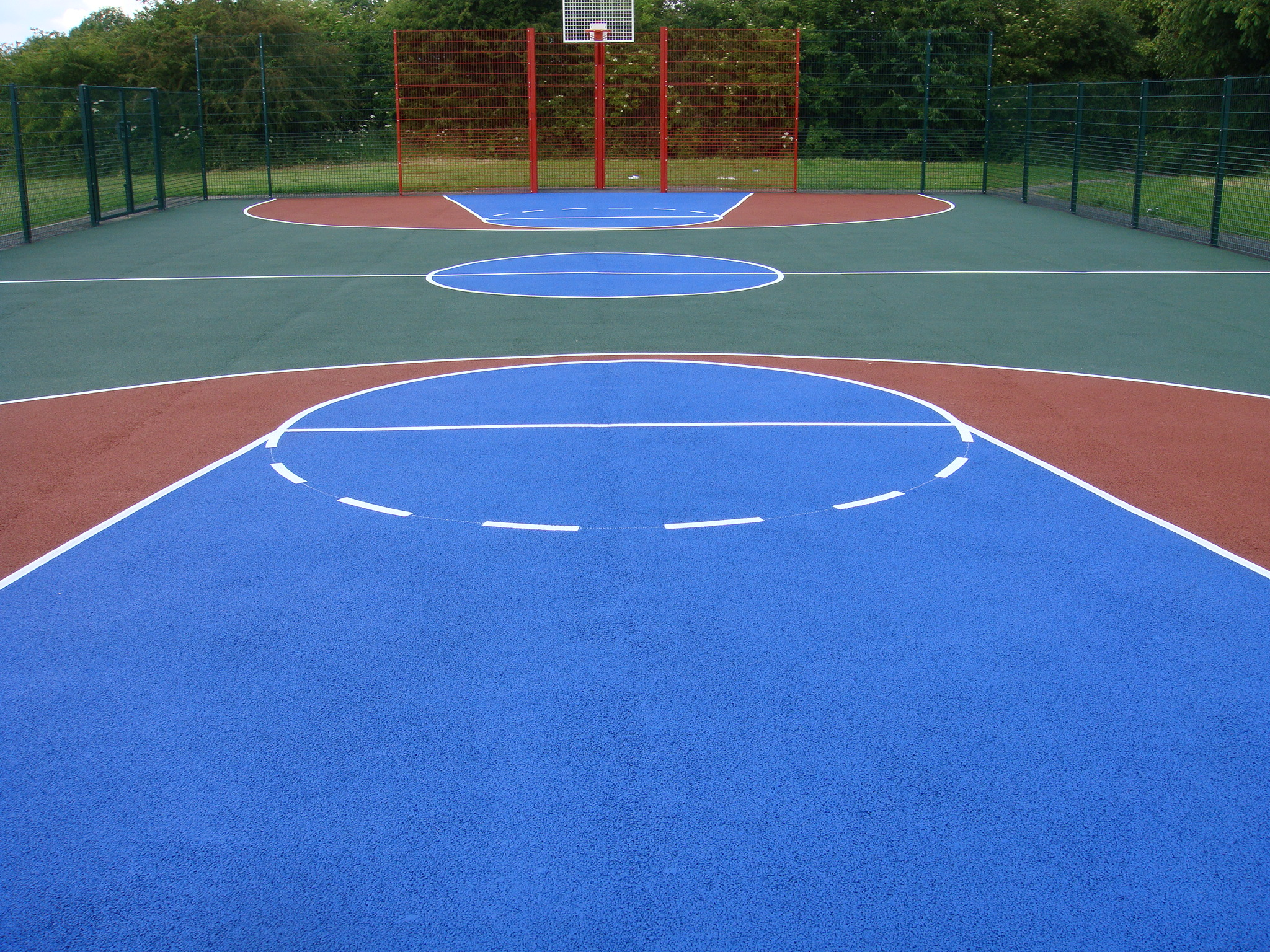 Basketball court services sports and safety surfaces for Sport court paint