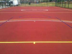 MUGA Basketball Court Surfacing and Construction
