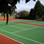 Tennis Court Surfacing Multi Coloured Design