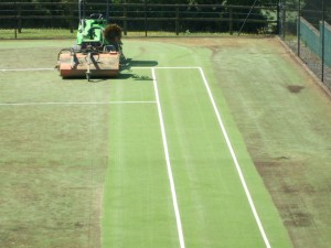 Artificial Grass Tennis Court Surfacing Maintenance