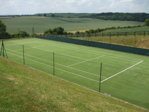 Rejuvenated Tennis Court Grass Flooring