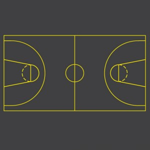 Basketball Thermoplastic Sports Courts Lines