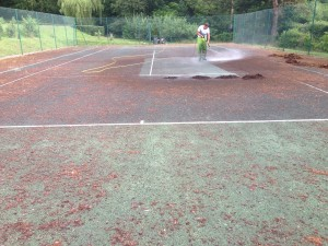 Tennis Court Maintenance to Contaminated Surface