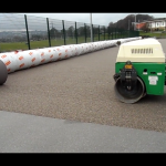 Synthetic Rugby Pitch Shockpad Application