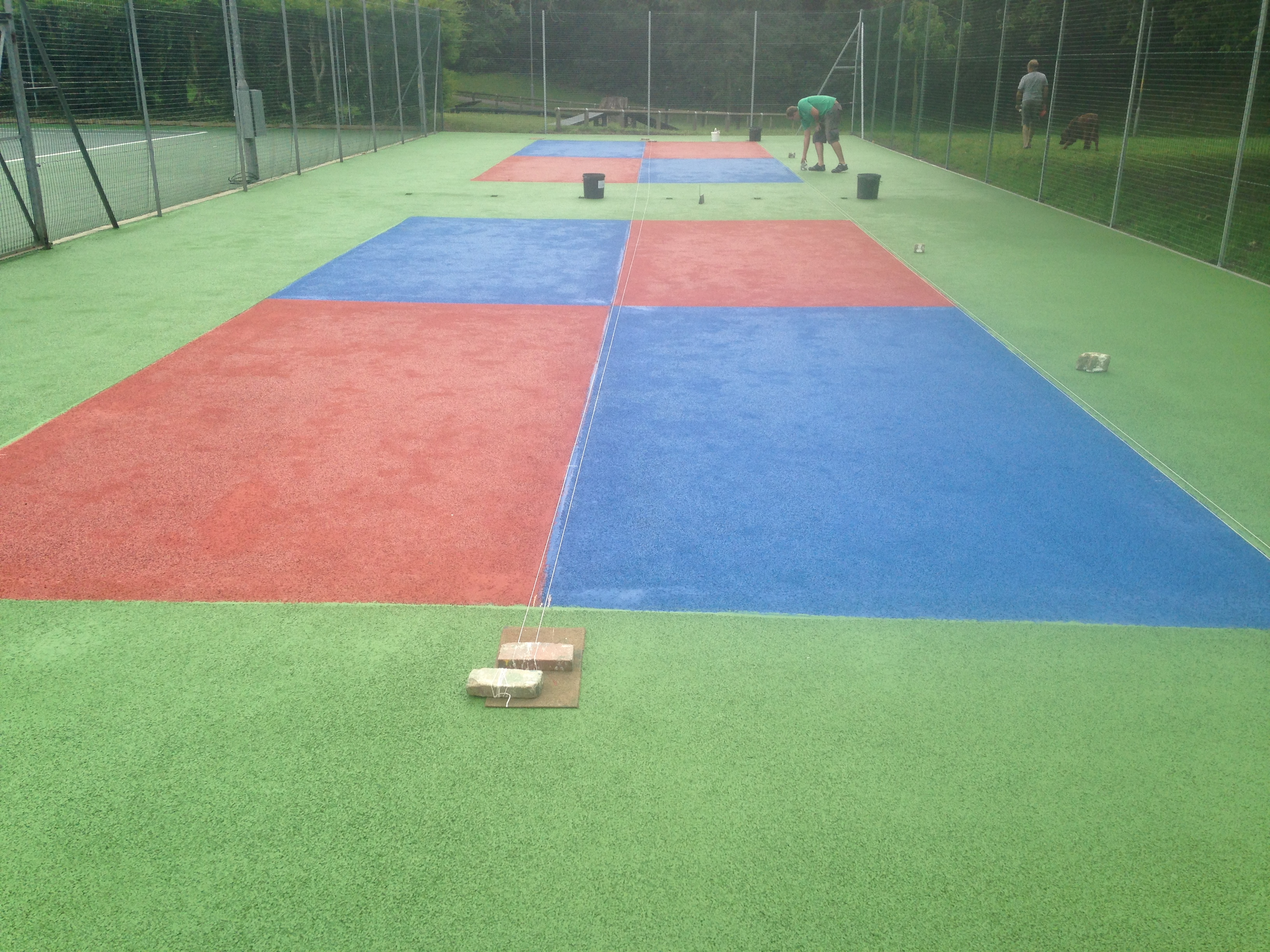 Multi use games area painting for Sport court paint