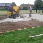 Athletics Track Construction Porous Stone