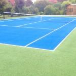 Tennis Court Colour Coating Application