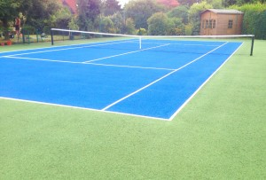 Tennis Court Colour Coating Application