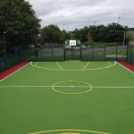 Outdoor MUGA Basketball Court Construction