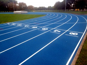 Polymeric Running Track Construction