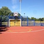 Macadam MUGA Court Flooring Installation