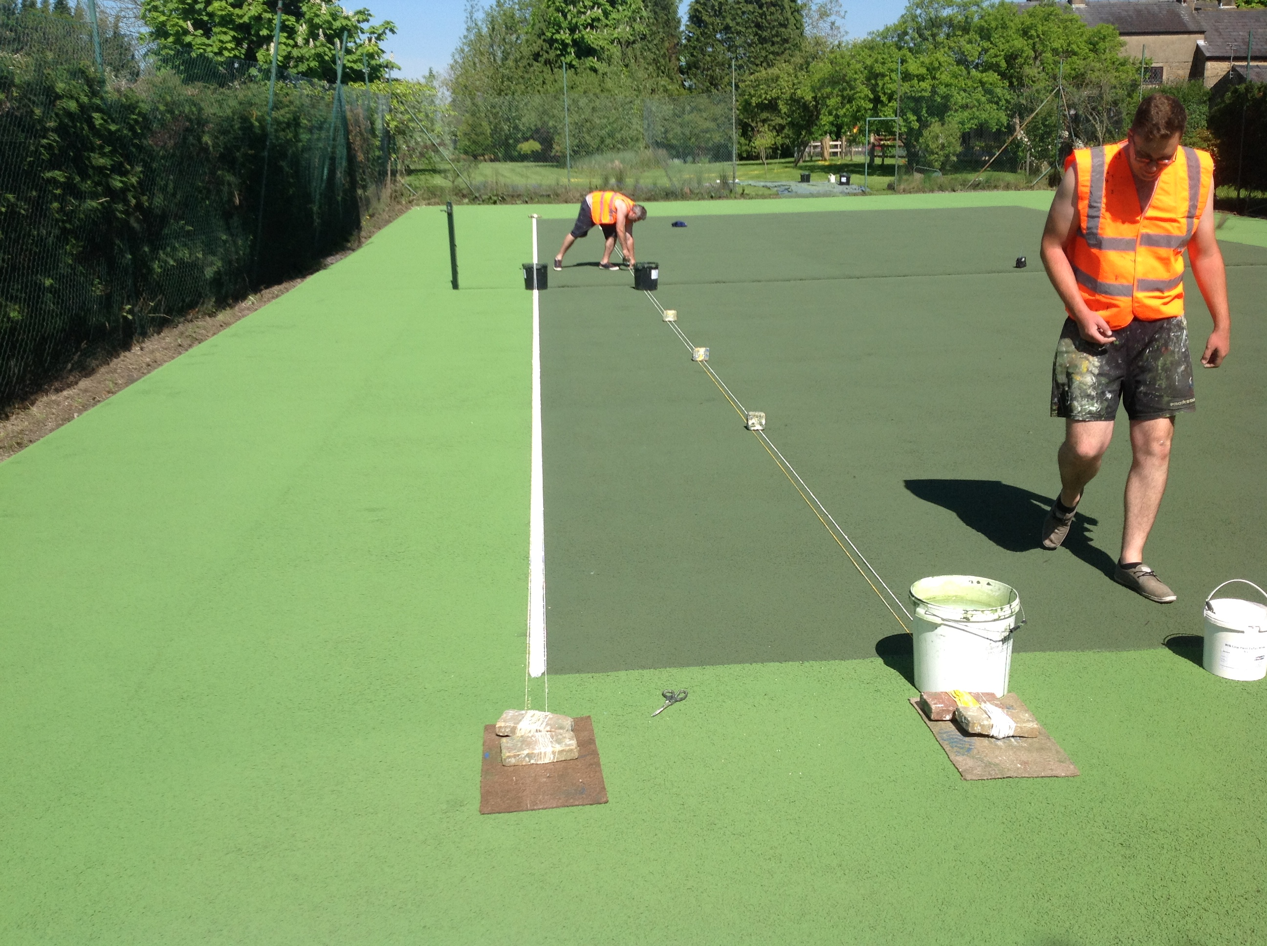 Tennis court line marking uk tennis courts sport lines for Sport court paint