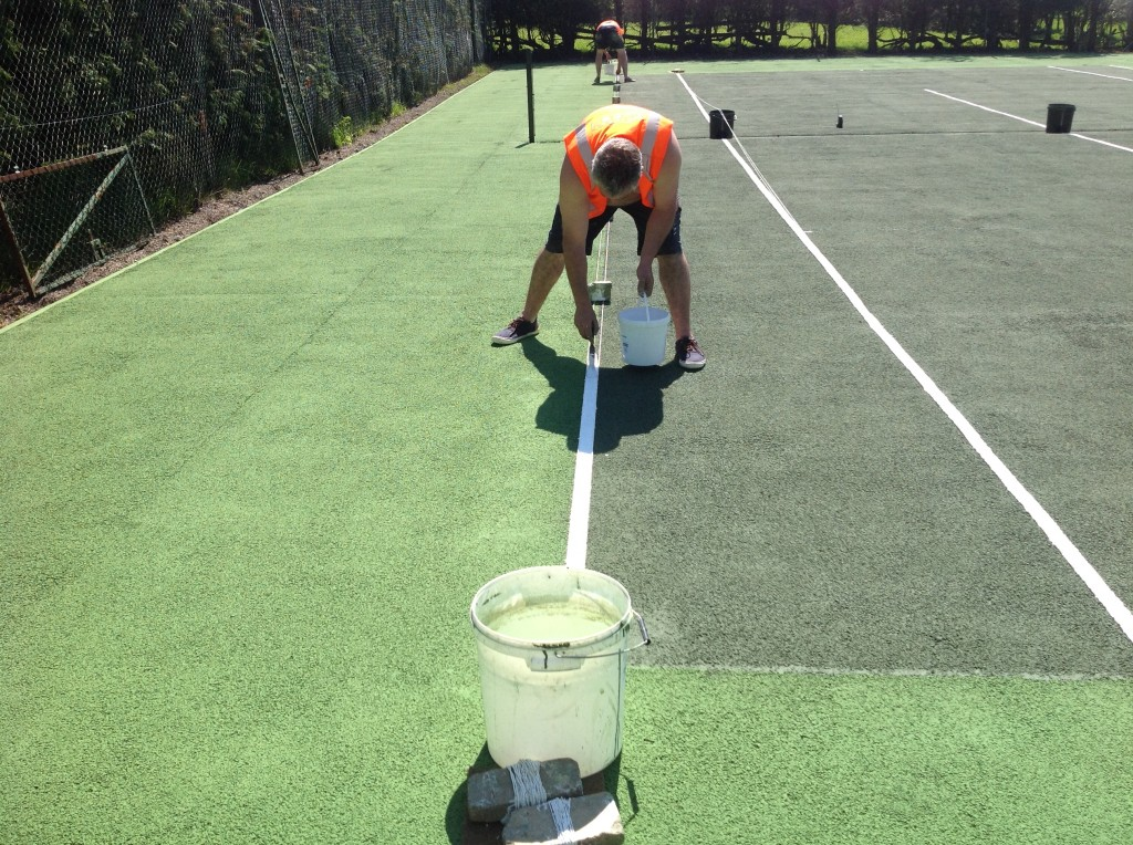 Residential Tennis Court Line Marking Sports And Safety