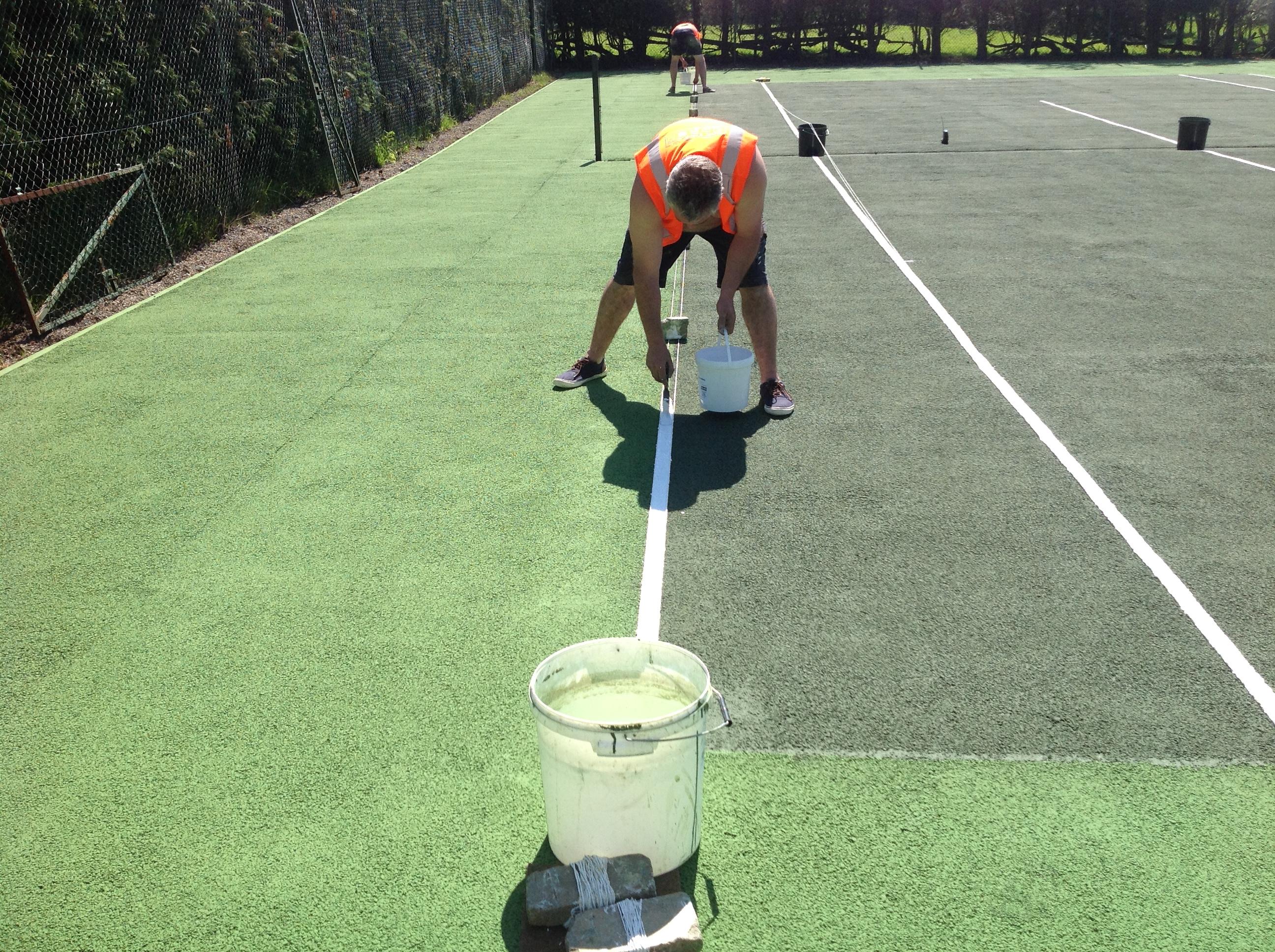 Tennis Court Line Marking Uk Tennis Courts Sport Lines